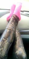 New Snake Pattern Leggings.... by TicklishAndInLove