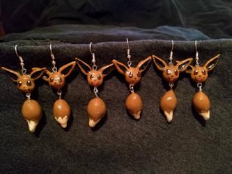 Eevee earrings by Ctougas01
