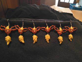 Flareon earrings by Ctougas01