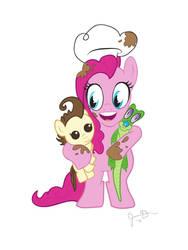 My Little Pony - Pinkie Pie, Pound Cake, and Gummy by MaxDaMonkey