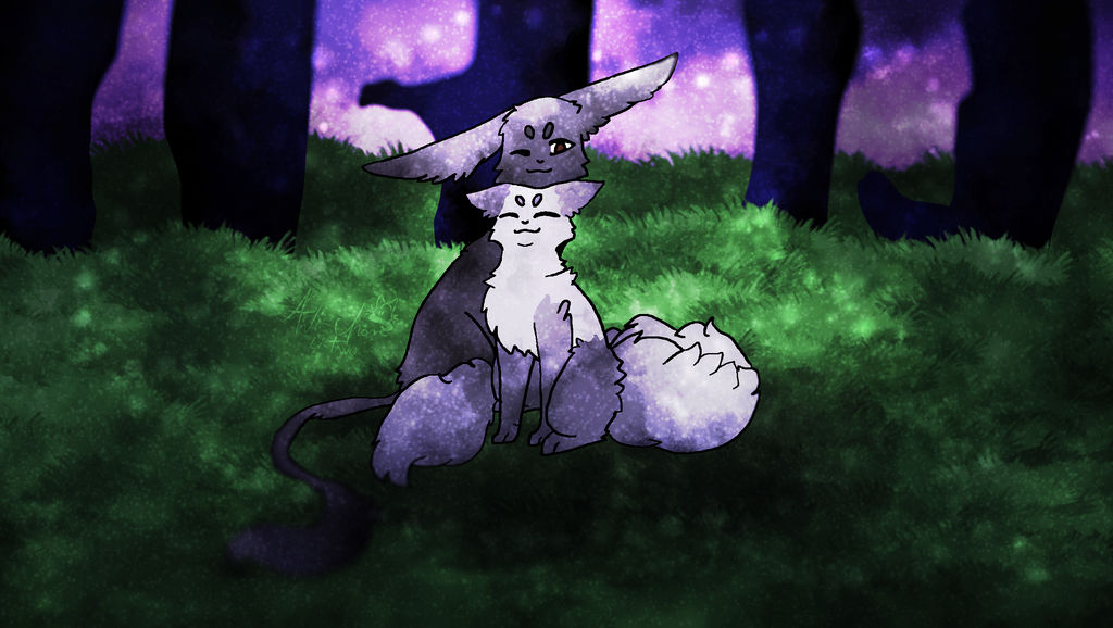 Me and you in the night by Anichannnn