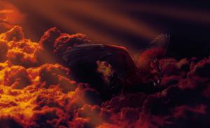 raging fire by littlewillow-art