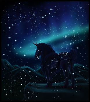 King of Snow and Stars by littlewillow-art