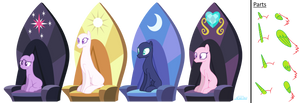 :Mlp Base: 12# Royalty by ArcticWinds143