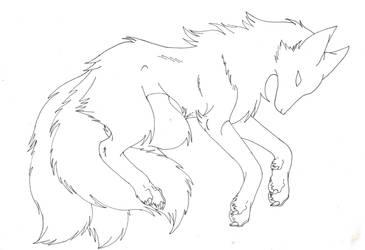 Free Kitsune Lineart by Eclipsedwolf