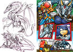 Sonic and Dragon Pet by LiyuConberma