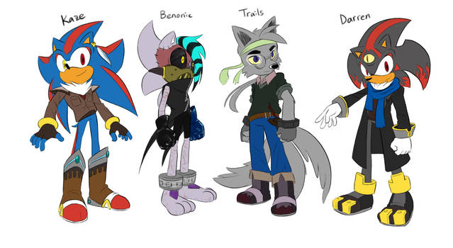 Kaze, Benonic, Trails, and Darren in Mobius Style by LiyuConberma