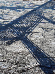 Walkway Shadow On Ice by TheMightyQuinn