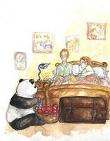 HP - good morning apple panda by LevyRasputin