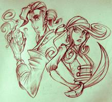 Monkey Island sketch by The-fishy-one