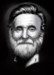 Robin Williams portrait study by The-fishy-one