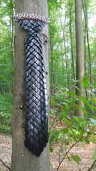 Black dragon scaled necktie by Ilirej