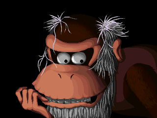 Cranky Kong - Game Over by Waroh