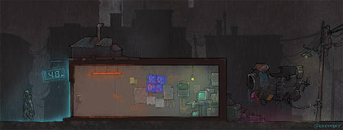 cyberpunk game mockup by krzyma