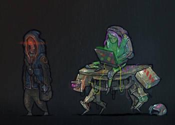 cyberpunk guys 1 by krzyma