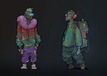 cyberpunk guys 2 by krzyma