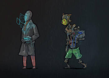 cyberpunk guys 3 by krzyma