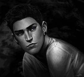 portrait commission: Aedan. by Notesz
