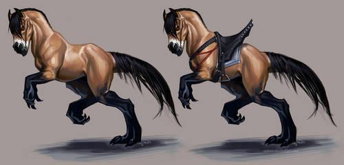 buckskin+saddle_ by Notesz