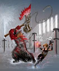 Alice vs The Executioner by PeterGuzman