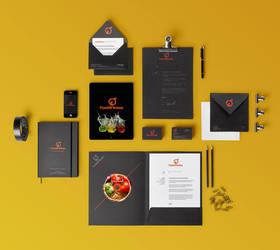 Food4Fitness Branding Design by Dakiedoodles