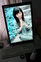 Dell 2407 on my desk by tuziibanez