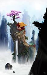 Cloudy Shrine by junon