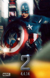 Captain America 2 Teaser Poster by SteSmith