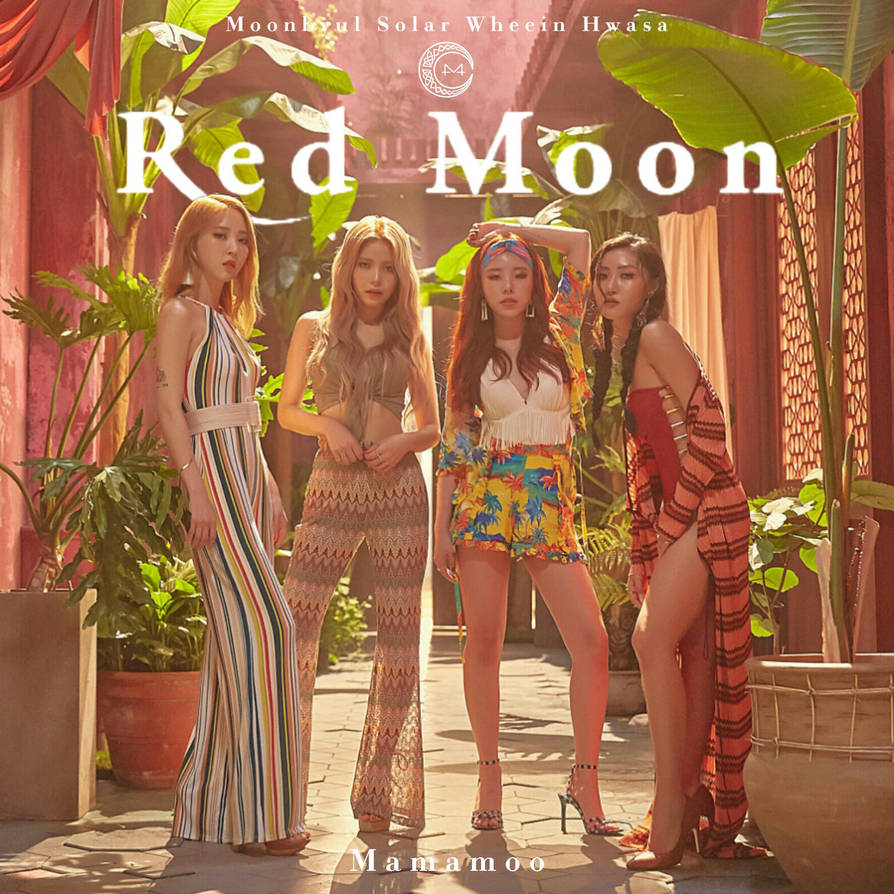 Mamamoo Egotistic Red Moon Album Cover By Lealbum On Deviantart