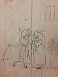 Sketch: Shade and Nova by DamzelKnight