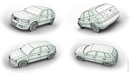 Audi A3 Wireframe by mpt1st