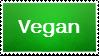 Veggie Stamp Series #1: Vegan by H1EROGLYPH