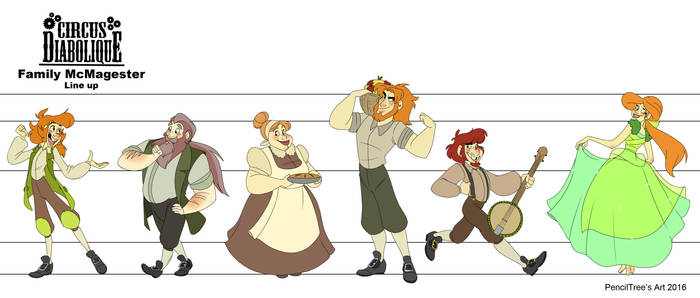 - Family McMagester Line Up - by PencilTree
