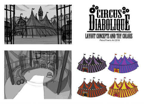 - Circus Diabolique - Layout concepts n try colors by PencilTree