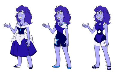 - Tanzanite_3 Outfits_COMMISSION - by PencilTree