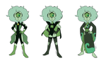 - Jade_3 outfits_COMMISSION - by PencilTree