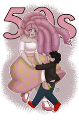 Rose and Steven - 50s by mangalover1351