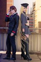Bishamon and Kazuma by Kinpatsu-Cosplay