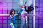 Widowmaker and Dva - Overwatch by Kinpatsu-Cosplay