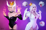 Bowsette and Booette by Kinpatsu-Cosplay
