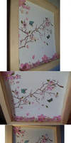 Living cherry blossom painting by Ljtigerlily