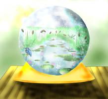 Snowglobe Lily Pond by Ljtigerlily