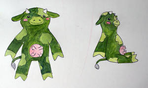 Green Cow design Commission by Ljtigerlily