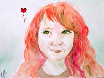 Self Portrait Watercolour by Ljtigerlily