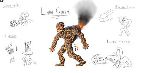 ebf 5 lava golem by OriginalLp9