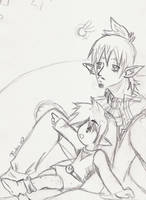Linebeck and Link- Nagareboshi by NeoRinku
