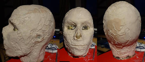 Fallout  Ghoul mask sculpt by Corroder666