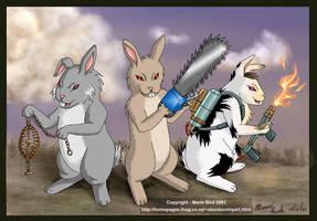 Evil Rabid Bunnies by ValkyrieNZ
