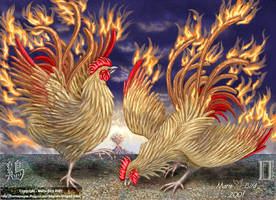 Phoenix Fire Roosters by ValkyrieNZ
