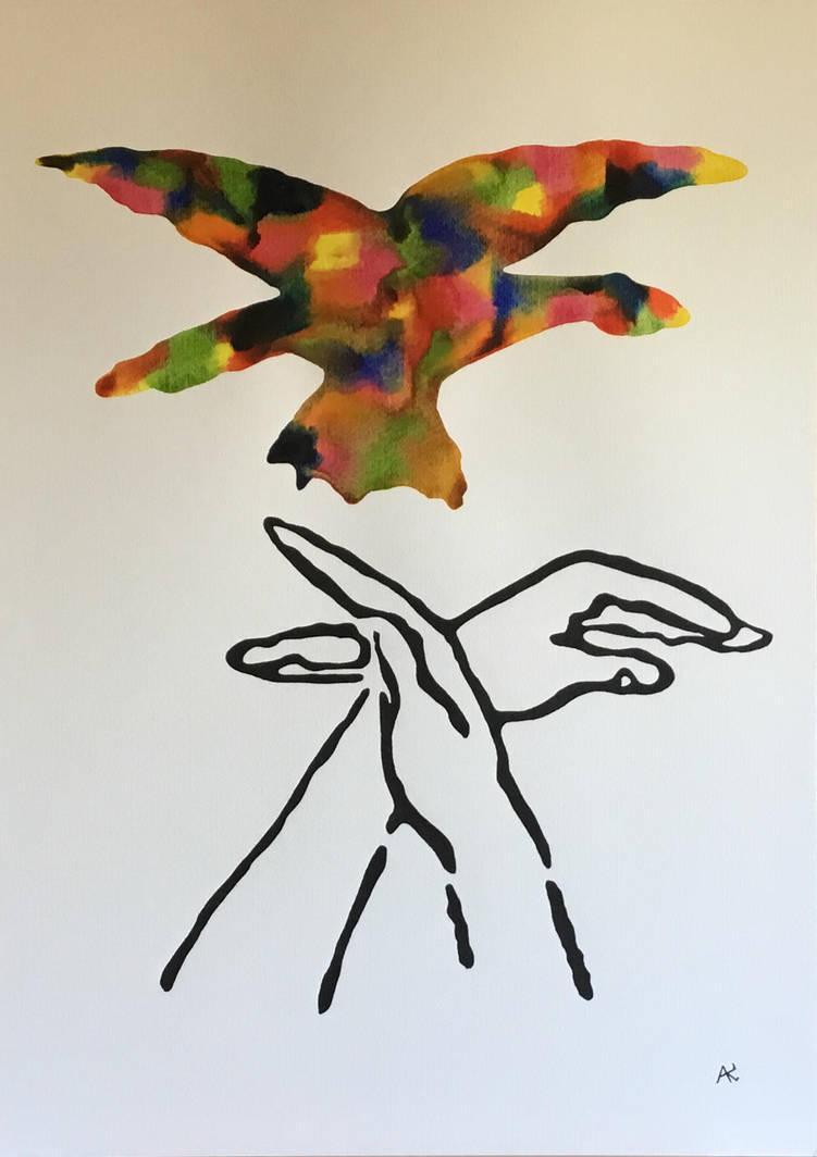 Birds fly away.. by Vissen13
